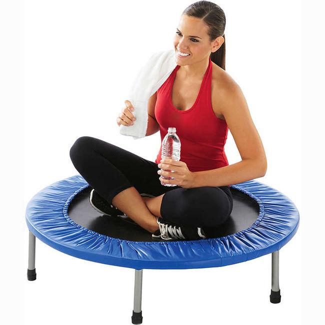 Отдых при фитнес тренировках на батутах
