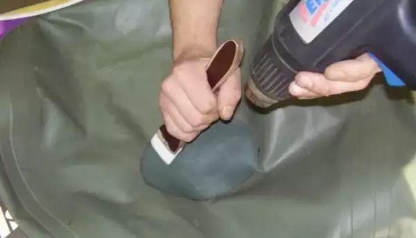 Как отремонтировать надувной батут
